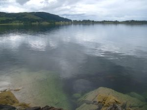 View across loch to my home.